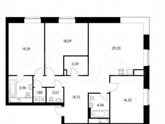 Продажа трёхкомнатной квартиры Москва, метро Ленинский проспект, цена 46000000 рублей, 2021 год объявление №579246 на megabaz.ru