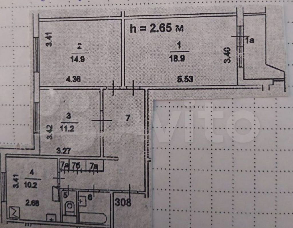 Продажа трёхкомнатной квартиры Москва, метро Алма-Атинская, улица Борисовские Пруды 46к2, цена 13000000 рублей, 2021 год объявление №629998 на megabaz.ru