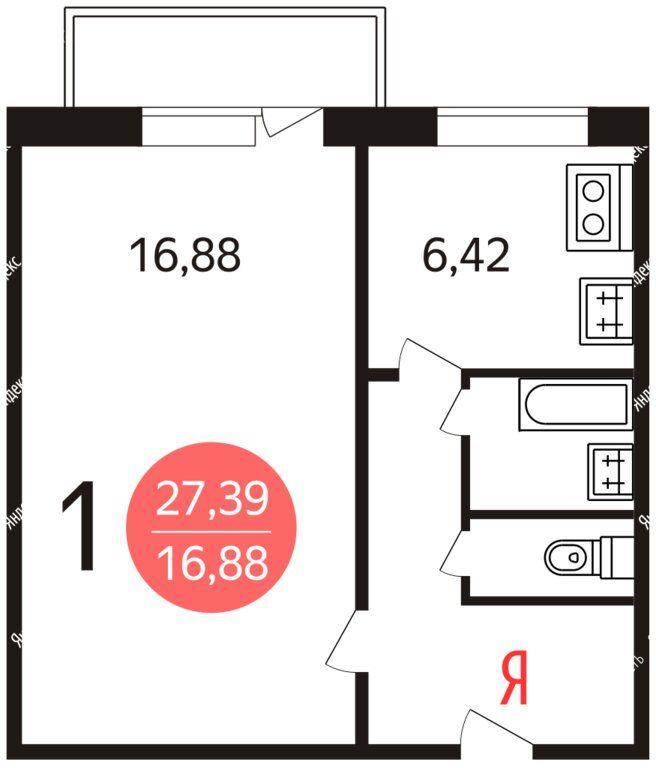 Аренда однокомнатной квартиры Москва, метро Ботанический сад, улица Седова 17к1, цена 35000 рублей, 2021 год объявление №1290230 на megabaz.ru