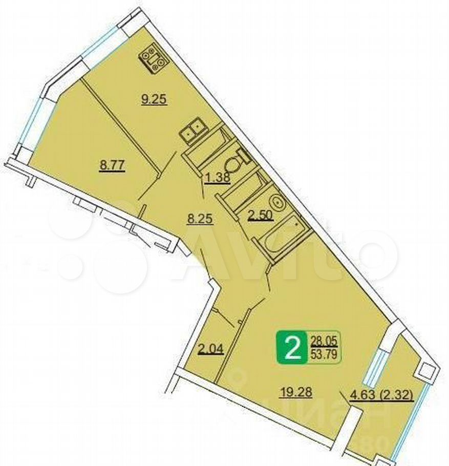 Продажа двухкомнатной квартиры Лыткарино, улица Ленина 12, цена 5300000 рублей, 2021 год объявление №606885 на megabaz.ru