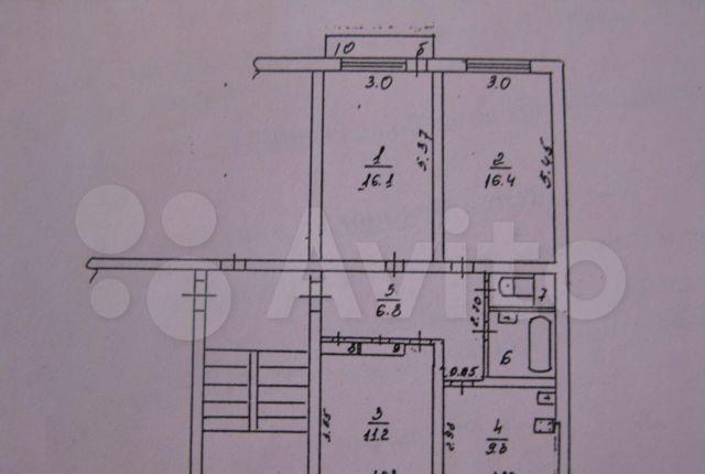 Продажа трёхкомнатной квартиры рабочий посёлок Калининец, цена 5000000 рублей, 2021 год объявление №552315 на megabaz.ru