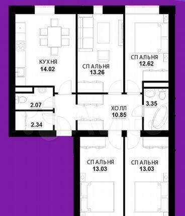 Продажа четырёхкомнатной квартиры Апрелевка, улица Декабристов 33, цена 7900000 рублей, 2021 год объявление №578753 на megabaz.ru