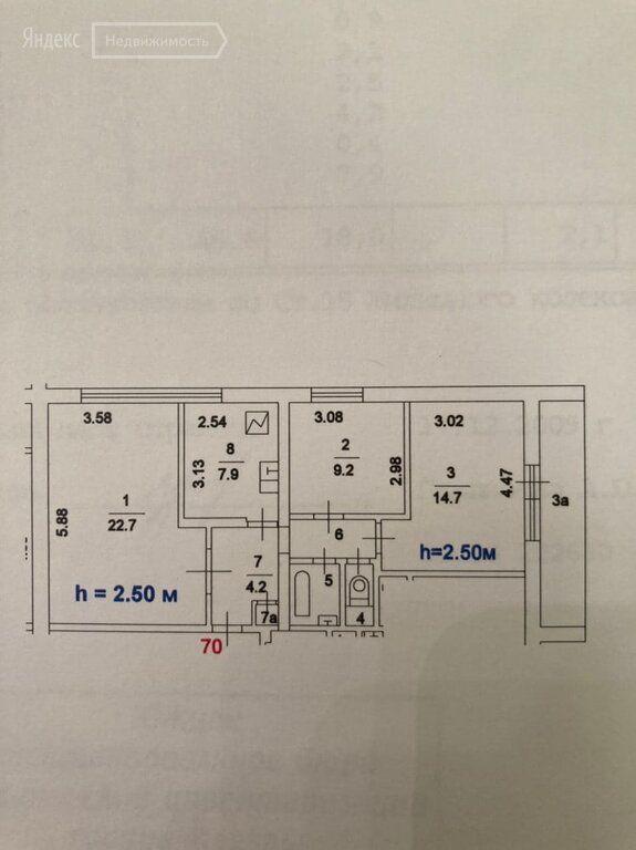 Продажа трёхкомнатной квартиры Москва, метро Южная, Кировоградская улица 8к1, цена 14200000 рублей, 2021 год объявление №579354 на megabaz.ru