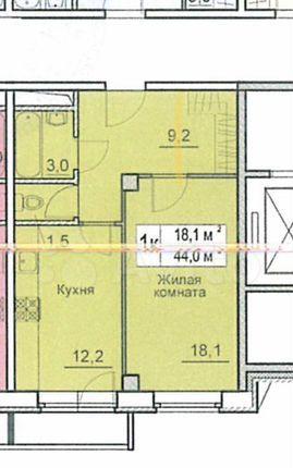 Продажа однокомнатной квартиры деревня Большие Жеребцы, цена 3300000 рублей, 2021 год объявление №519867 на megabaz.ru