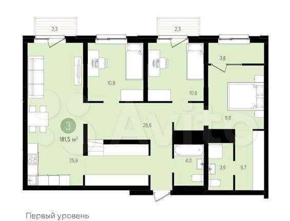 Продажа пятикомнатной квартиры Видное, цена 13500000 рублей, 2021 год объявление №545607 на megabaz.ru