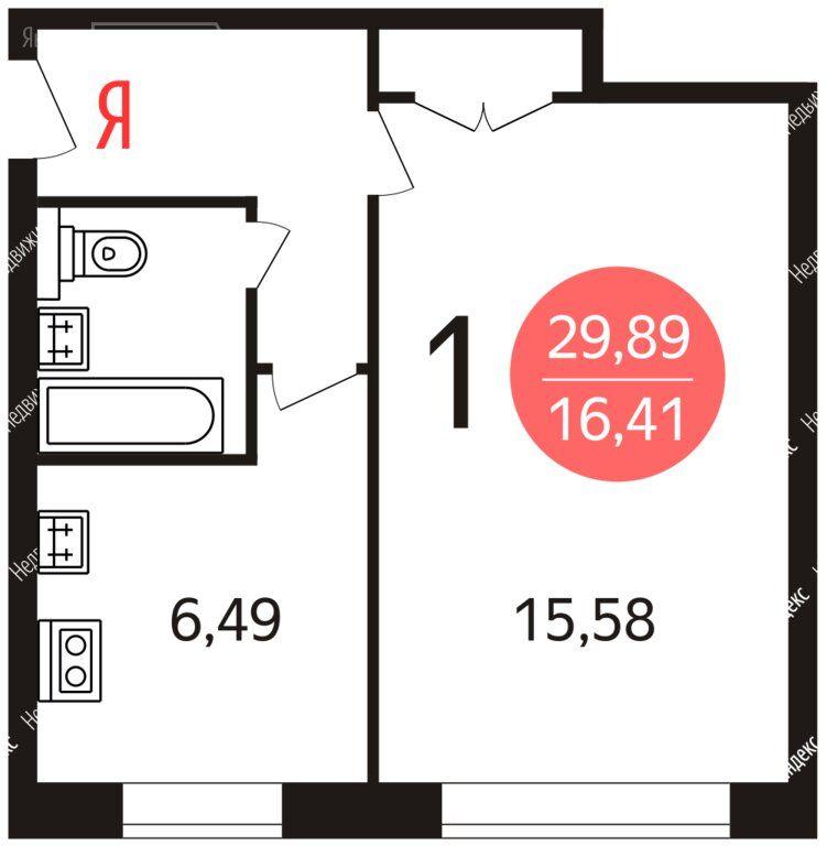Аренда однокомнатной квартиры Москва, метро Ботанический сад, улица Седова 9к2, цена 30000 рублей, 2021 год объявление №1288774 на megabaz.ru
