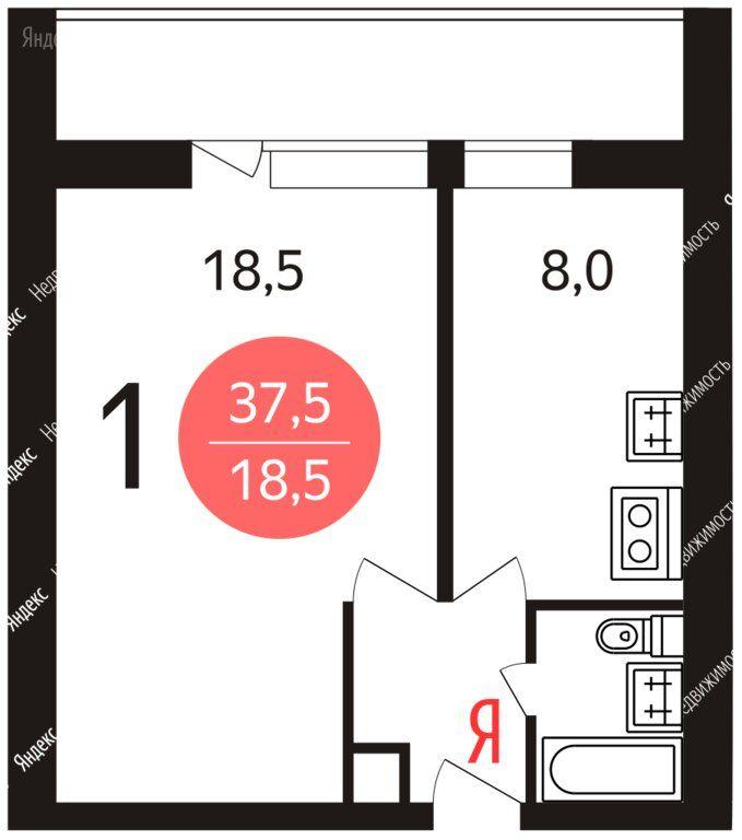 Аренда однокомнатной квартиры Москва, метро Марьина роща, 1-я Ямская улица 10, цена 30000 рублей, 2021 год объявление №1291694 на megabaz.ru