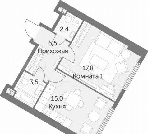 Продажа однокомнатной квартиры Москва, метро Калужская, цена 7650000 рублей, 2021 год объявление №569757 на megabaz.ru