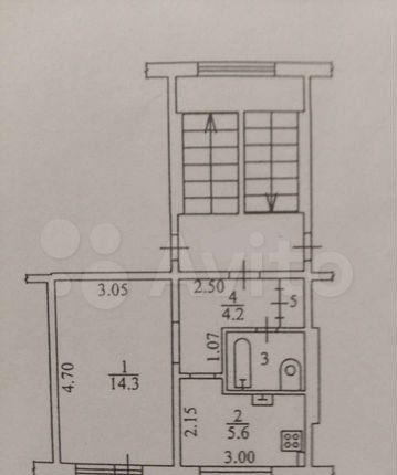 Продажа однокомнатной квартиры поселок Нарынка, Молодёжная улица 11, цена 1100000 рублей, 2021 год объявление №586336 на megabaz.ru