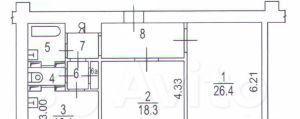 Продажа двухкомнатной квартиры Москва, метро Варшавская, Каширское шоссе 16, цена 12750000 рублей, 2021 год объявление №492440 на megabaz.ru