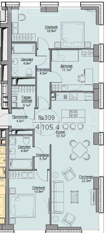 Продажа четырёхкомнатной квартиры Москва, метро Фили, Багратионовский проезд 5к3, цена 33500000 рублей, 2021 год объявление №548476 на megabaz.ru
