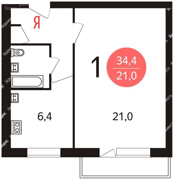Продажа однокомнатной квартиры Москва, метро Отрадное, Отрадная улица 11, цена 6900000 рублей, 2021 год объявление №555783 на megabaz.ru