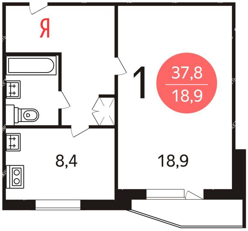 Продажа однокомнатной квартиры Москва, метро Лермонтовский проспект, Лермонтовский проспект 8к1, цена 7200000 рублей, 2021 год объявление №548766 на megabaz.ru