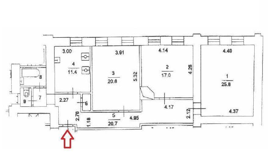 Продажа трёхкомнатной квартиры Москва, метро Трубная, Рождественский бульвар 17, цена 30570000 рублей, 2021 год объявление №549101 на megabaz.ru