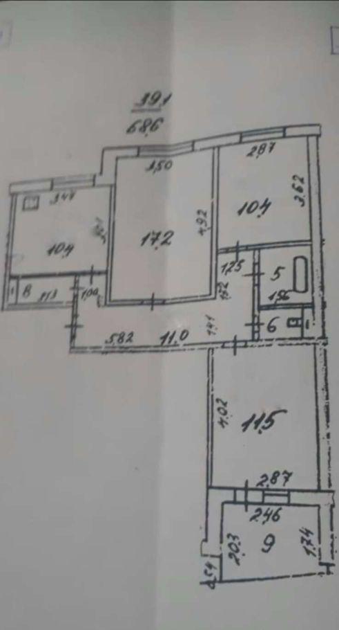 Продажа трёхкомнатной квартиры Куровское, улица 40 лет Октября 45, цена 2800000 рублей, 2020 год объявление №503613 на megabaz.ru