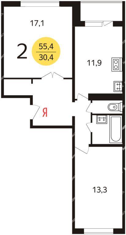 Аренда двухкомнатной квартиры Москва, метро Бунинская аллея, улица Адмирала Лазарева 72, цена 37000 рублей, 2021 год объявление №1297235 на megabaz.ru