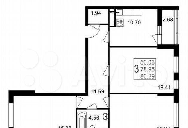 Продажа трёхкомнатной квартиры рабочий посёлок Нахабино, Стартовая улица 2, цена 7900000 рублей, 2021 год объявление №571508 на megabaz.ru