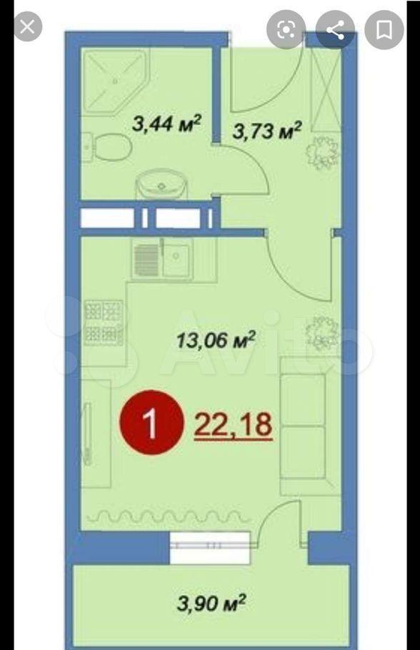 Продажа студии деревня Островцы, цена 2900000 рублей, 2021 год объявление №607485 на megabaz.ru