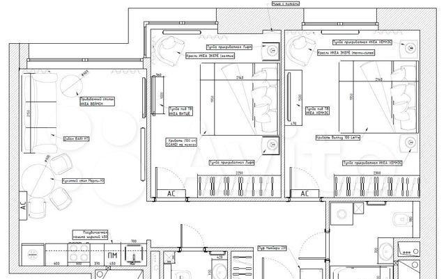 Аренда двухкомнатной квартиры Москва, метро Сухаревская, Докучаев переулок 2с3, цена 135000 рублей, 2021 год объявление №1299821 на megabaz.ru