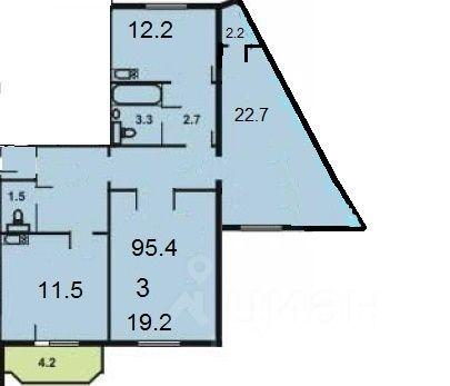 Продажа трёхкомнатной квартиры Красногорск, метро Мякинино, Павшинский бульвар 20, цена 10900000 рублей, 2021 год объявление №617998 на megabaz.ru