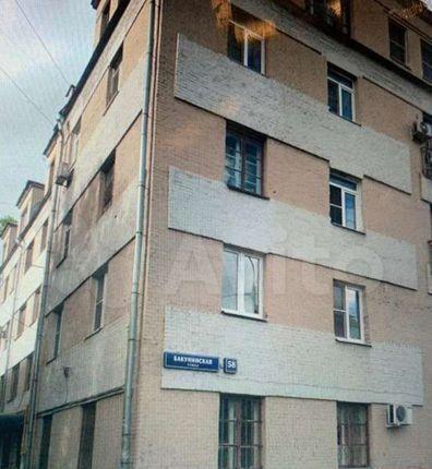 Продажа однокомнатной квартиры Москва, метро Бауманская, Бакунинская улица 58, цена 5900000 рублей, 2021 год объявление №552077 на megabaz.ru