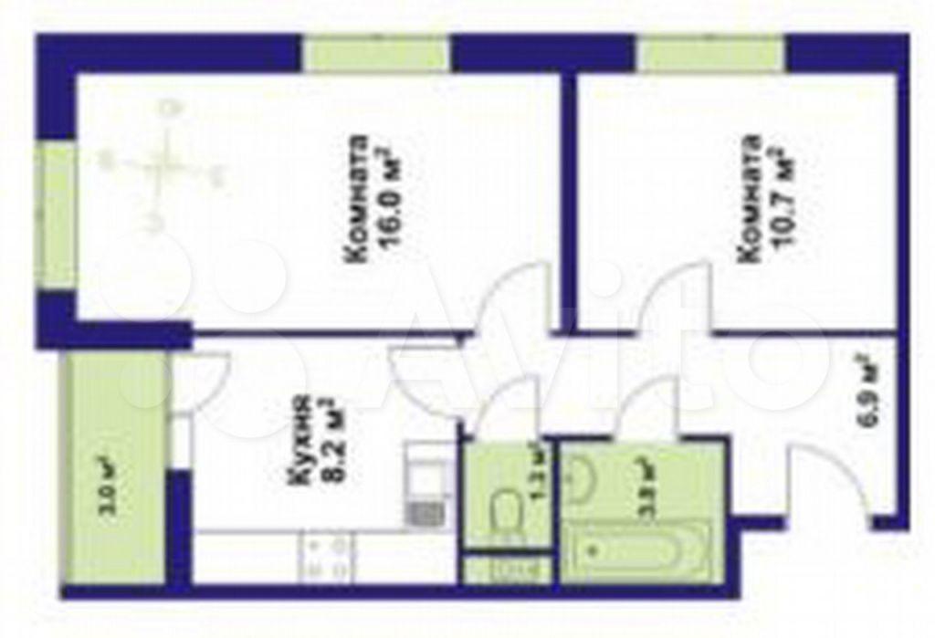 Продажа двухкомнатной квартиры Дедовск, цена 6957500 рублей, 2021 год объявление №616852 на megabaz.ru