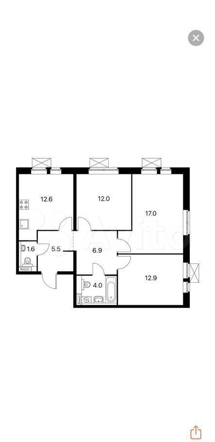 Продажа трёхкомнатной квартиры Котельники, цена 9400000 рублей, 2021 год объявление №580384 на megabaz.ru