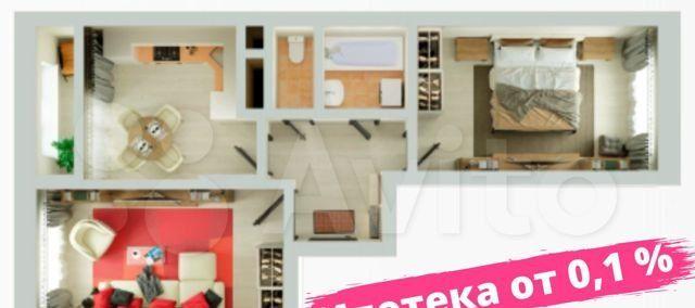 Продажа двухкомнатной квартиры деревня Глухово, улица Рублёвское Предместье, цена 5784207 рублей, 2021 год объявление №566855 на megabaz.ru