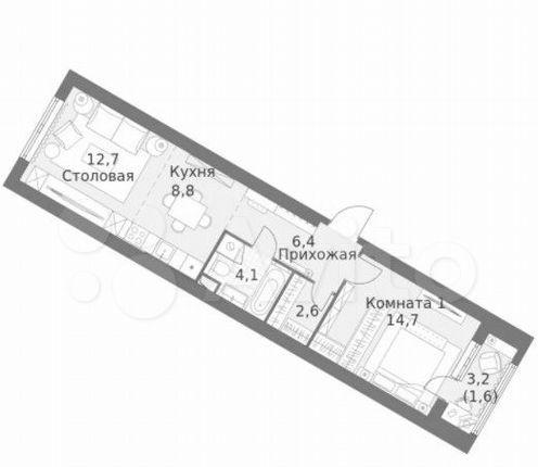 Продажа однокомнатной квартиры Москва, метро Калужская, цена 8800000 рублей, 2021 год объявление №569759 на megabaz.ru