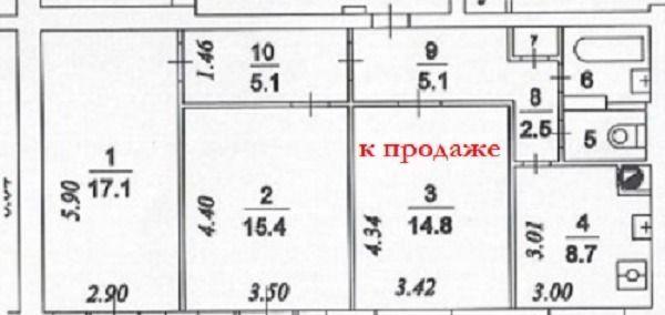 Продажа комнаты Москва, метро Марксистская, Рязанский проспект 33, цена 3500000 рублей, 2021 год объявление №556383 на megabaz.ru