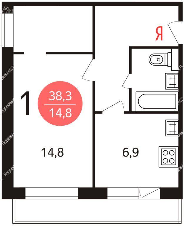 Продажа однокомнатной квартиры Москва, метро Чертановская, Чертановская улица 8, цена 8777000 рублей, 2021 год объявление №573073 на megabaz.ru
