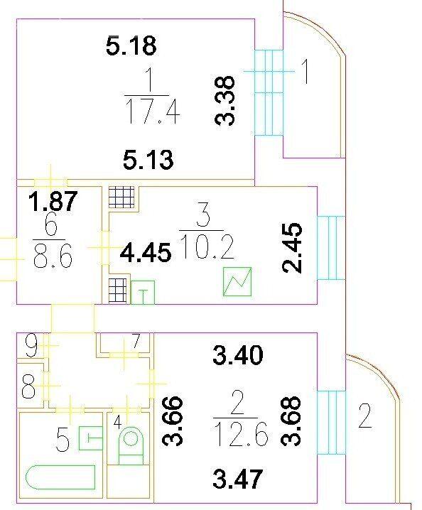 Продажа двухкомнатной квартиры Москва, метро Октябрьское поле, улица Берзарина 10к2, цена 15550000 рублей, 2021 год объявление №557469 на megabaz.ru