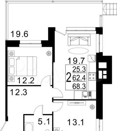 Продажа двухкомнатной квартиры село Павловская Слобода, Красная улица, цена 5805500 рублей, 2021 год объявление №394796 на megabaz.ru