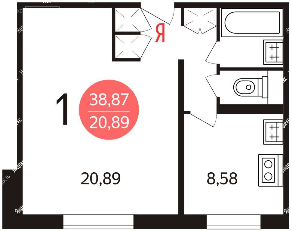 Продажа однокомнатной квартиры Москва, метро Марьина роща, Стрелецкая улица 9к1, цена 9700000 рублей, 2021 год объявление №574104 на megabaz.ru