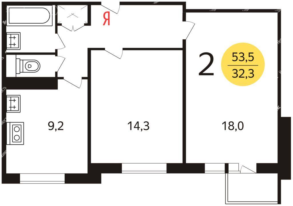 Продажа двухкомнатной квартиры Москва, метро Каховская, Херсонская улица 9к2, цена 13800000 рублей, 2021 год объявление №557811 на megabaz.ru