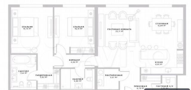 Продажа двухкомнатной квартиры Москва, метро Спортивная, цена 90000000 рублей, 2021 год объявление №552878 на megabaz.ru