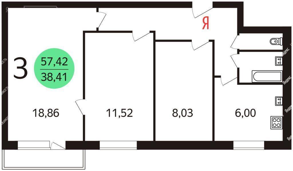 Аренда трёхкомнатной квартиры Москва, метро Южная, Кировоградская улица 4к2, цена 55000 рублей, 2021 год объявление №1336873 на megabaz.ru