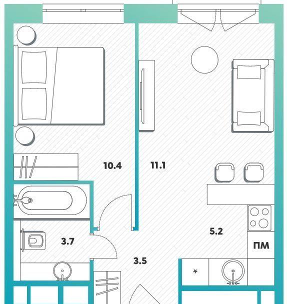 Продажа однокомнатной квартиры Москва, метро Рязанский проспект, цена 8100000 рублей, 2021 год объявление №484742 на megabaz.ru