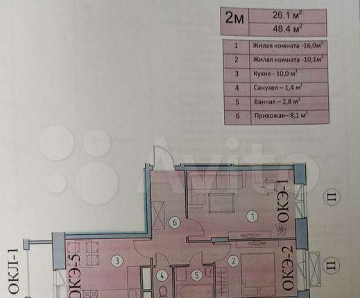 Продажа двухкомнатной квартиры Видное, улица Святослава Рихтера 5к2, цена 6600000 рублей, 2021 год объявление №581006 на megabaz.ru