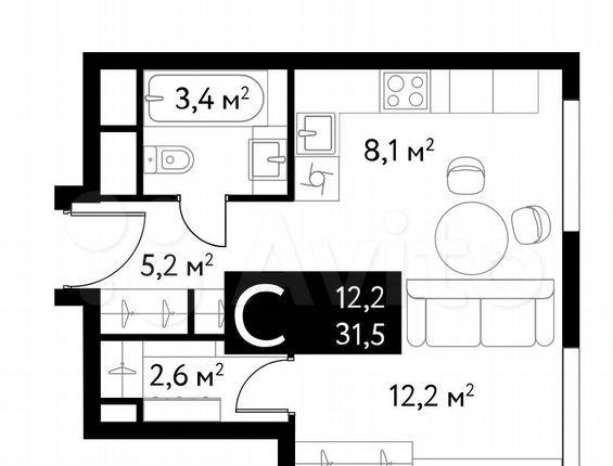 Продажа студии Москва, метро Достоевская, цена 16500000 рублей, 2021 год объявление №575820 на megabaz.ru