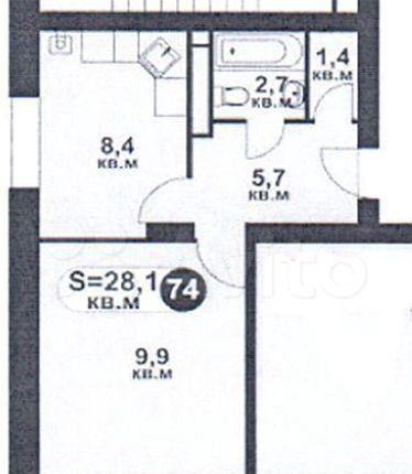 Продажа однокомнатной квартиры село Озерецкое, цена 3000000 рублей, 2021 год объявление №527769 на megabaz.ru
