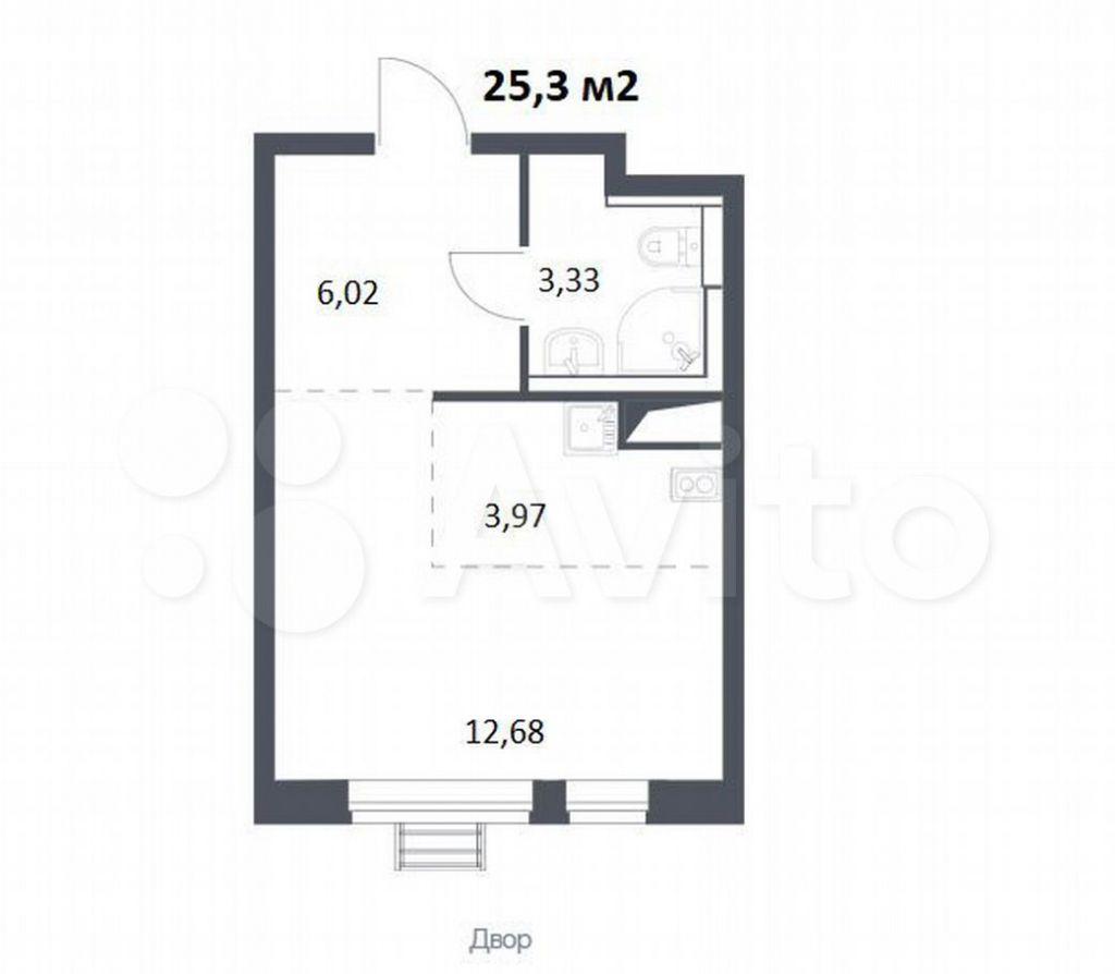 Продажа студии село Ям, цена 4700000 рублей, 2021 год объявление №691717 на megabaz.ru