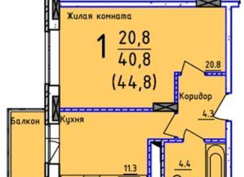 Продажа однокомнатной квартиры поселок Сосновый Бор, улица Объездная Дорога 1, цена 4900000 рублей, 2021 год объявление №560483 на megabaz.ru