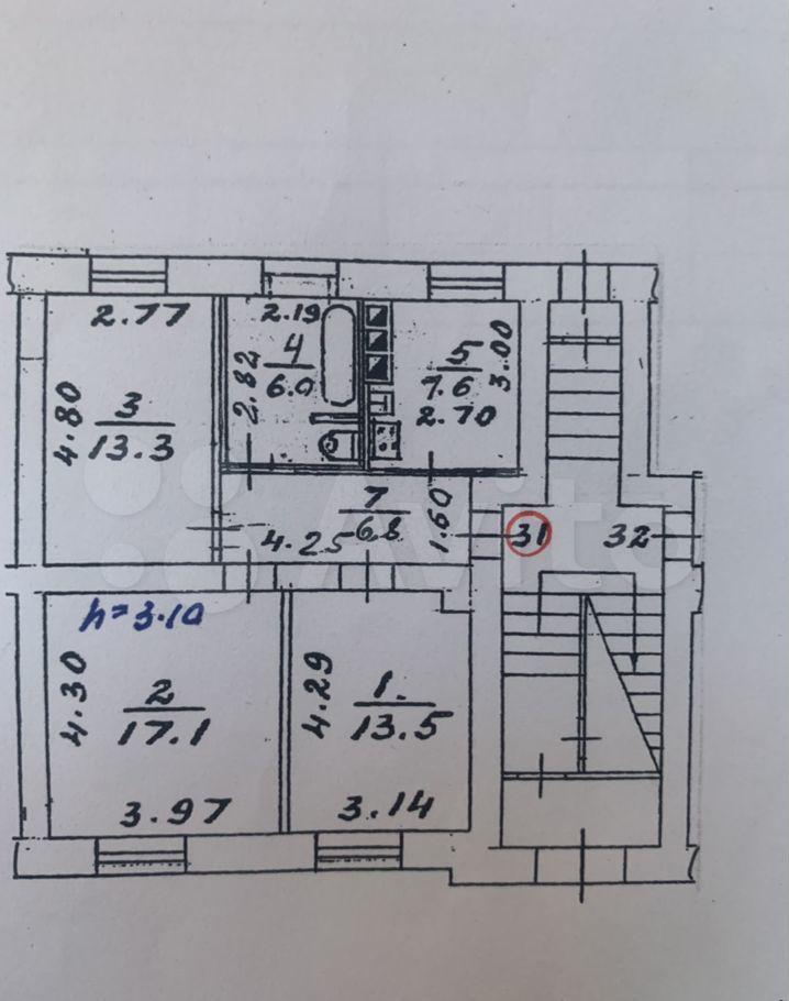 Продажа трёхкомнатной квартиры Королёв, улица Циолковского 25, цена 7500000 рублей, 2021 год объявление №708094 на megabaz.ru