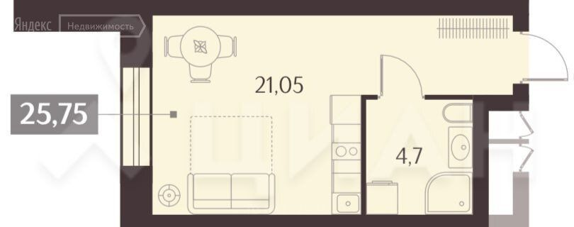 Продажа однокомнатной квартиры Москва, метро Динамо, Ленинградский проспект вл34, цена 10300000 рублей, 2021 год объявление №580854 на megabaz.ru