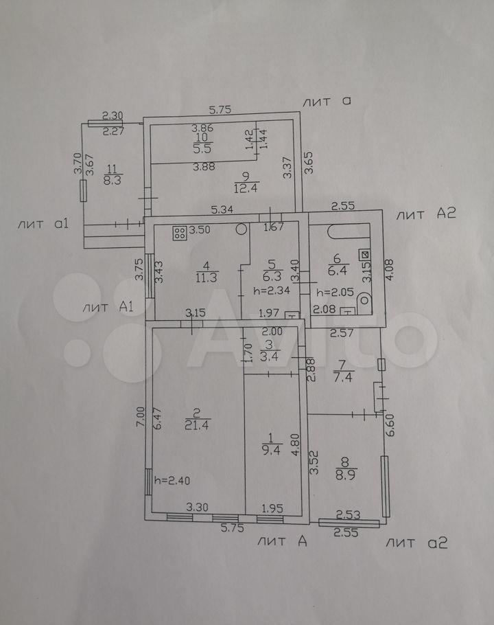 Продажа дома Высоковск, улица Чайковского 36, цена 1250000 рублей, 2021 год объявление №600629 на megabaz.ru