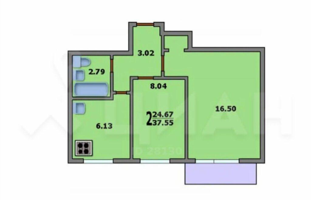 Продажа двухкомнатной квартиры Москва, метро Кожуховская, 5-я Кожуховская улица 18к2, цена 10000000 рублей, 2021 год объявление №564818 на megabaz.ru