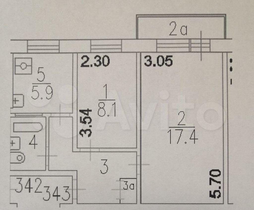 Продажа двухкомнатной квартиры Москва, метро Калужская, Севастопольский проспект 44к5, цена 12600000 рублей, 2021 год объявление №697455 на megabaz.ru