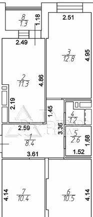 Продажа трёхкомнатной квартиры деревня Путилково, метро Планерная, Сходненская улица 13, цена 8000000 рублей, 2021 год объявление №579962 на megabaz.ru