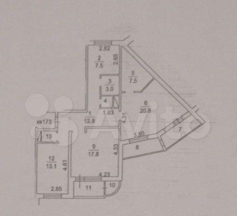 Продажа трёхкомнатной квартиры поселок Развилка, метро Зябликово, цена 11000000 рублей, 2021 год объявление №567645 на megabaz.ru